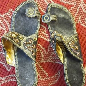 Beads Embroidery Women Open Shoes A 9926-8
